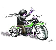 HARLEY STYLE BIKER MOTORCYCLE Photographic Print