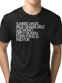 Sunrise Angel Lyrics White Tri-blend T-Shirt