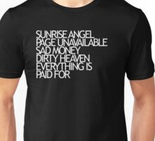 Sunrise Angel Lyrics White Unisex T-Shirt