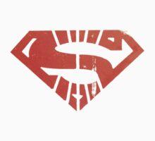 Superman Segmented Logo (Black Background) Kids Clothes