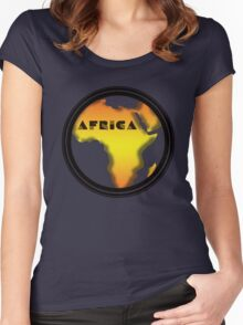 Africa Women's Fitted Scoop T-Shirt
