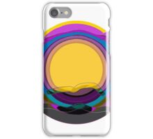 Modern scenery, repeat pattern, purple, blue, yellow, gray iPhone Case/Skin