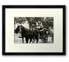 Colonial Carriage  Framed Print