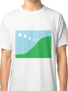 Abstract Landscape - Lights on the Hill Classic T-Shirt