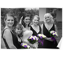 Bridesmaids Selective in Colour Poster