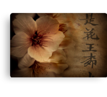 Asian Blossom Canvas Print
