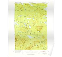 Maine USGS Historical Map Jo-Mary Mountain 460499 1952 62500 Poster