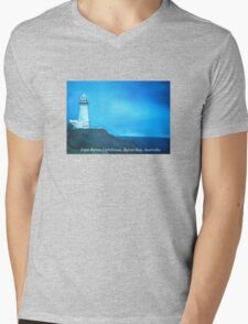 CapeByron Lighthouse - Original oil on canvas Mens V-Neck T-Shirt