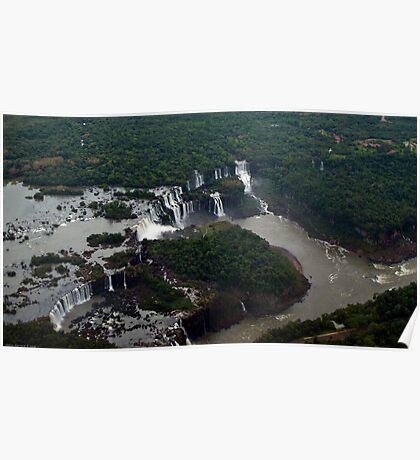 Aerial view of Iguaçu falls Poster