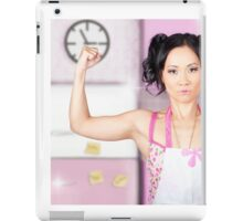 Funny cleaning pinup woman with clean strength iPad Case/Skin