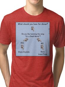 What should you have for dinner? Tri-blend T-Shirt
