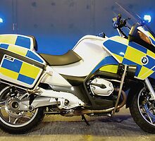 British Traffic Police Motorcycle by SparkyHew