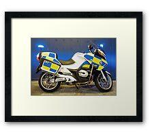 British Traffic Police Motorcycle Framed Print