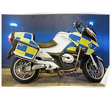 British Traffic Police Motorcycle Poster
