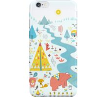 Papa Bear Goes Camping - Red iPhone Case/Skin