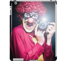 Clown Paparazzi Taking Photograph At Red Carpet Event iPad Case/Skin
