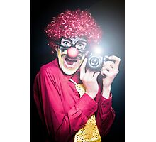 Clown Paparazzi Taking Photograph At Red Carpet Event Photographic Print