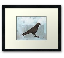 Raven in the Snow Framed Print