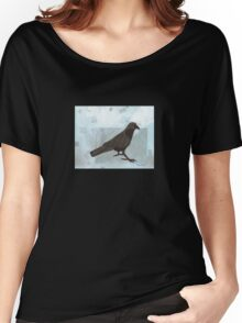 Raven in the Snow Women's Relaxed Fit T-Shirt