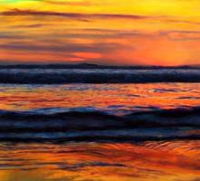 A Beach Sunset Is My Aurora Sticker
