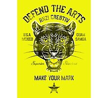 DEFEND THE ARTS PANTHER Photographic Print