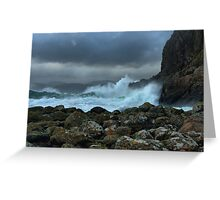Easdale in a Storm Greeting Card