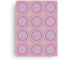 Pink, Blue & Yellow Kaleidoscope Flowers Canvas Print