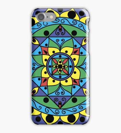 multicolored mandala iPhone Case/Skin