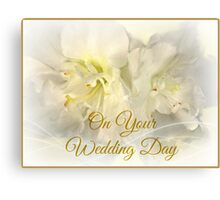 Greeting Card: Wedding, Bridal, Marriage,  Canvas Print
