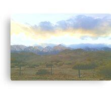 LP Peak cold clouds Canvas Print