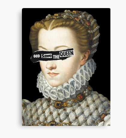 Elisabeth of Austria, Queen of France Canvas Print