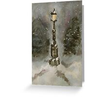Lamp Post in Blue Greeting Card