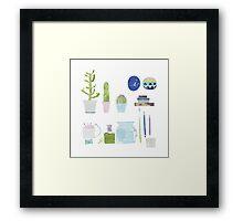 Cactus in my studio Framed Print