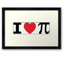 I Heart Pi Framed Print