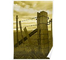 The fence - sepia Poster