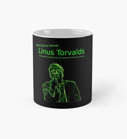 Linux Open Source Heroes - Linus Torvalds Mug