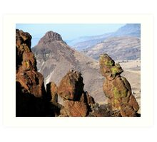 Indian Wash Women Rock atop Picture Gorge E Oregon Art Print
