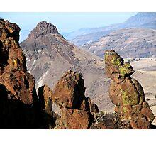 Indian Wash Women Rock atop Picture Gorge E Oregon Photographic Print