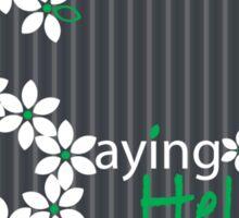 A Floral Hello Sticker