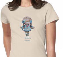 Love is a Hug Tshirt Womens Fitted T-Shirt