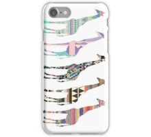aztec giraffes iPhone Case/Skin