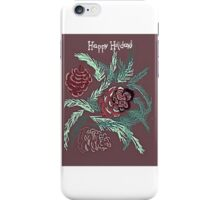 Pine cone card iPhone Case/Skin