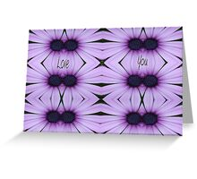 Mauve Flowers & Love You Greeting Card