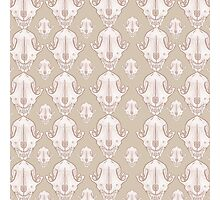 Fox Skull Pattern Photographic Print