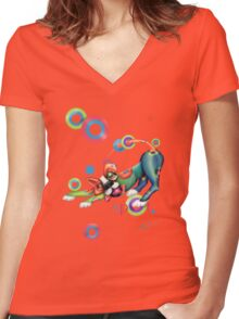 Spot Women's Fitted V-Neck T-Shirt