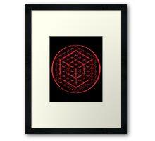Tesseract & Flower of Life  Framed Print