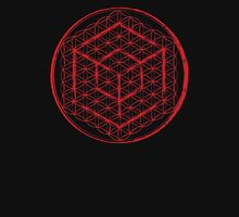Tesseract & Flower of Life  Unisex T-Shirt