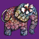 Tattoo Elephant TShirt by Karin  Taylor