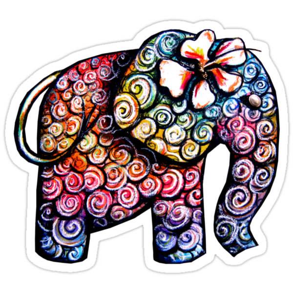 Tattoo Elephant TShirt by © Karin  Taylor