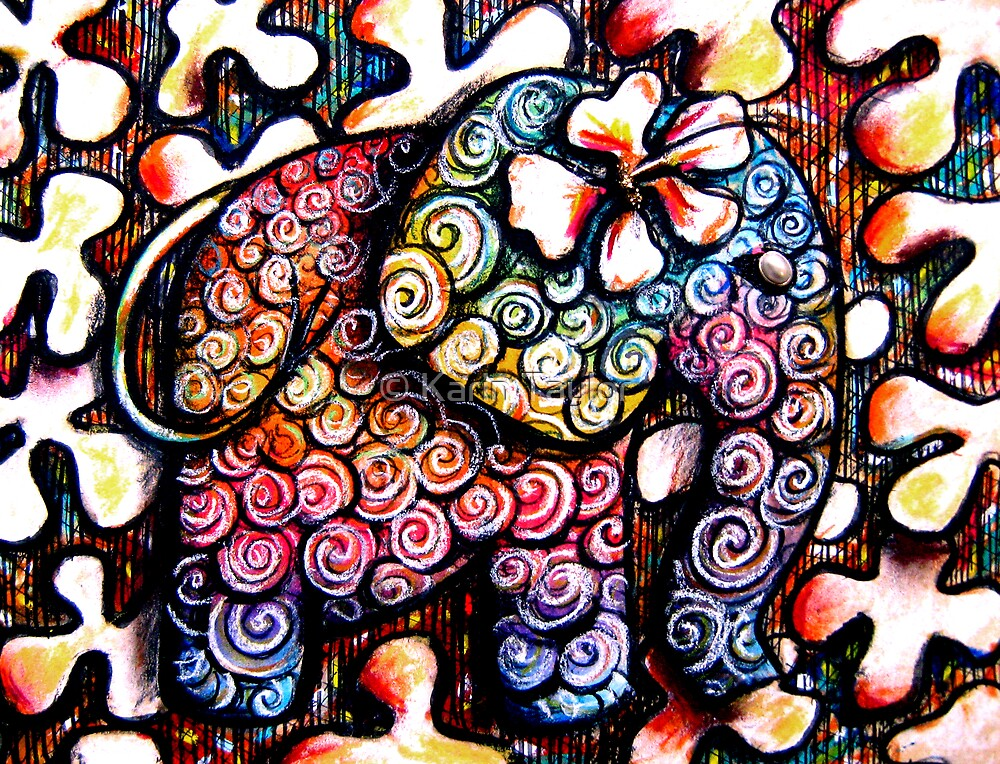 Tattoo Elephant  by © Karin Taylor